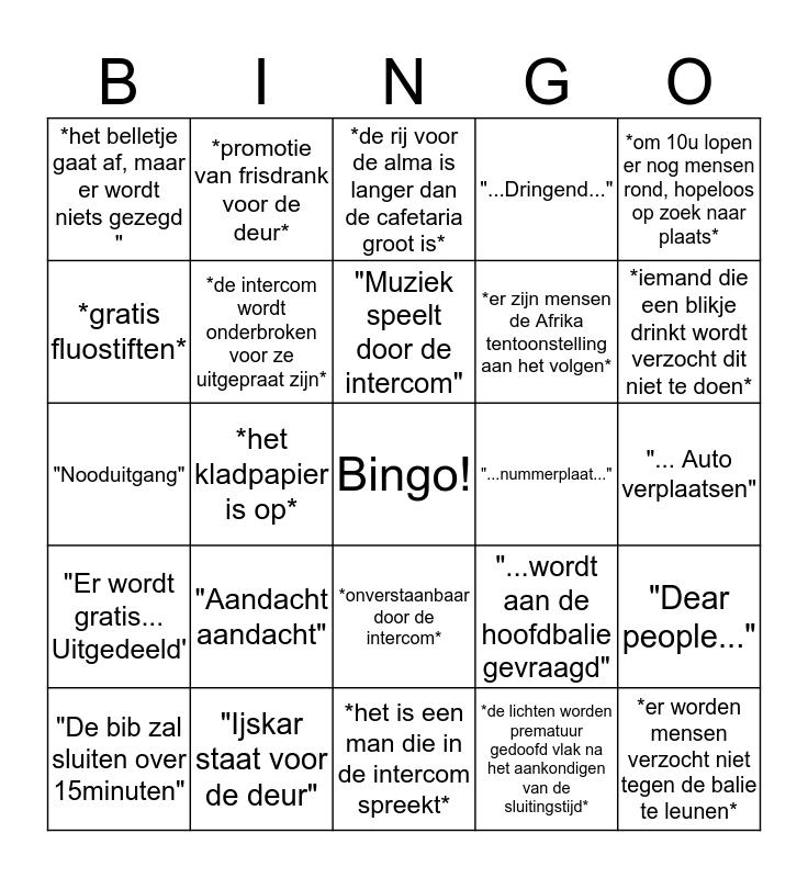 CBA - Bingo Card