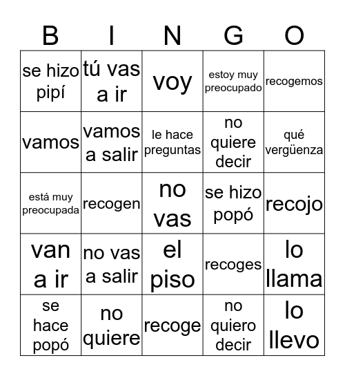 Brandon Brown 7- lado 2 Bingo Card