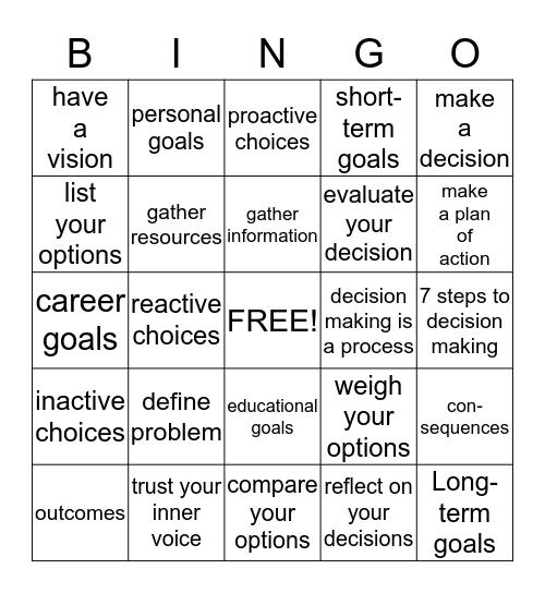 Making bingo