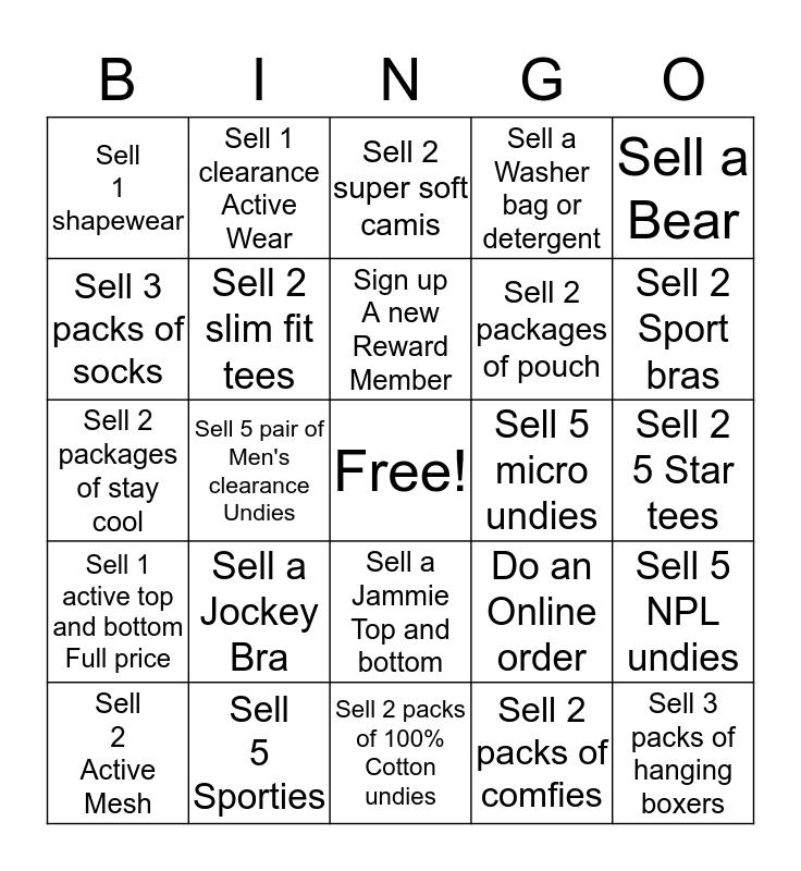 Jockey Bingo Card