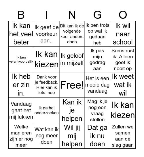 Proactieve Bingokaart Bingo Card