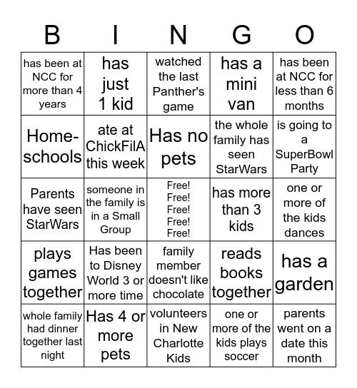 Warehouse Fun!   Bingo Card