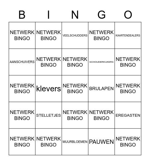 NETWERK BINGO Card