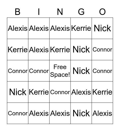 RA Bingo!  Bingo Card