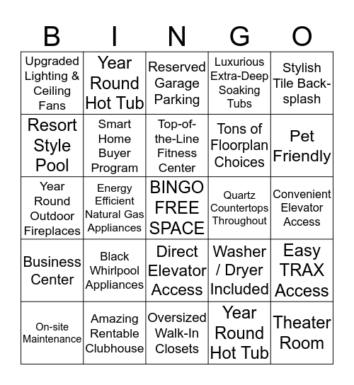 Fairbourne Station Bingo Card
