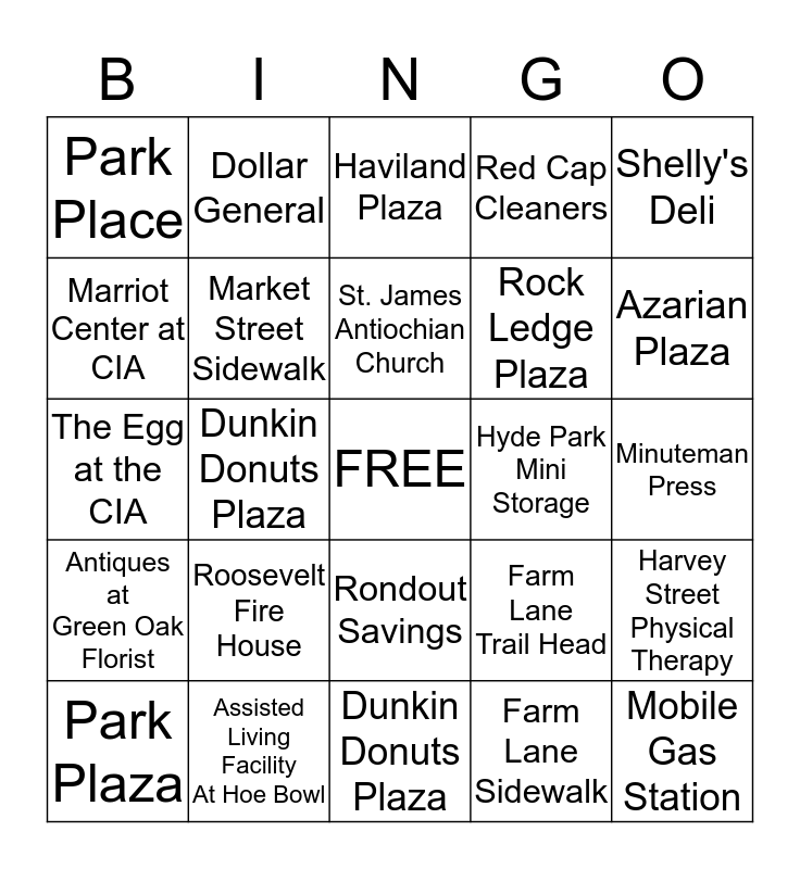 BUSINESS BINGO Card