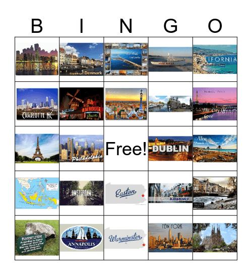 Jill & Chris Travels Bingo Card