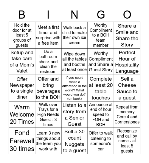 Huddle Bingo 1-30-16  Bingo Card
