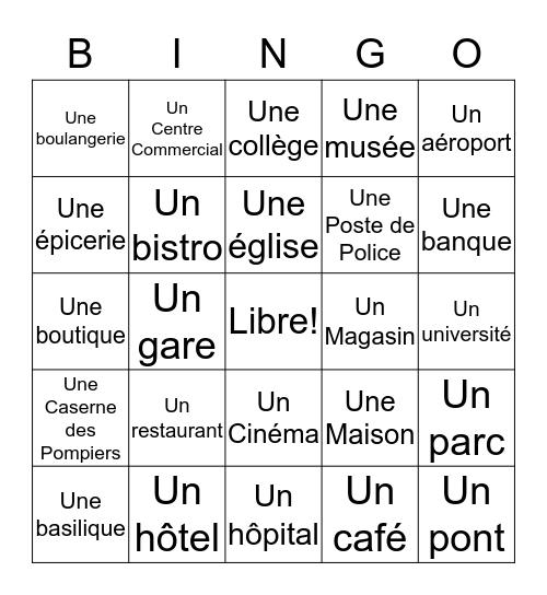 En ville Bingo Card