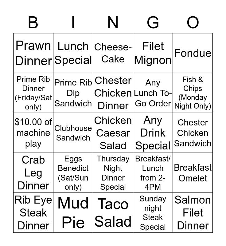 February Torgy's Casnio & Grill  Bingo Card