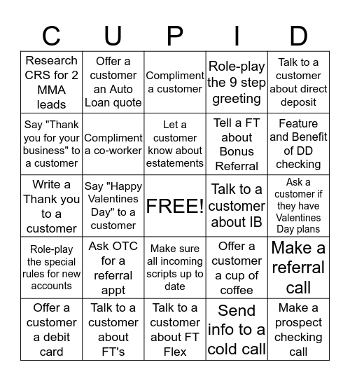 Valentine's Day Bingo Card