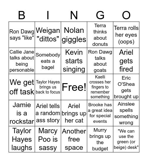 SPB Bingo Card