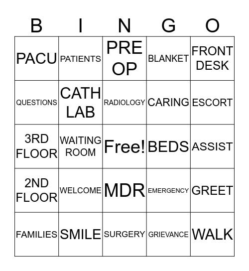 Cultural of Care Bingo Card