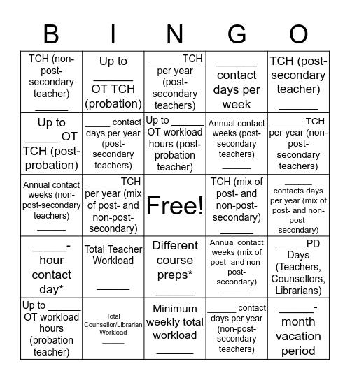 SWF *LIMIT* BINGO! Bingo Card