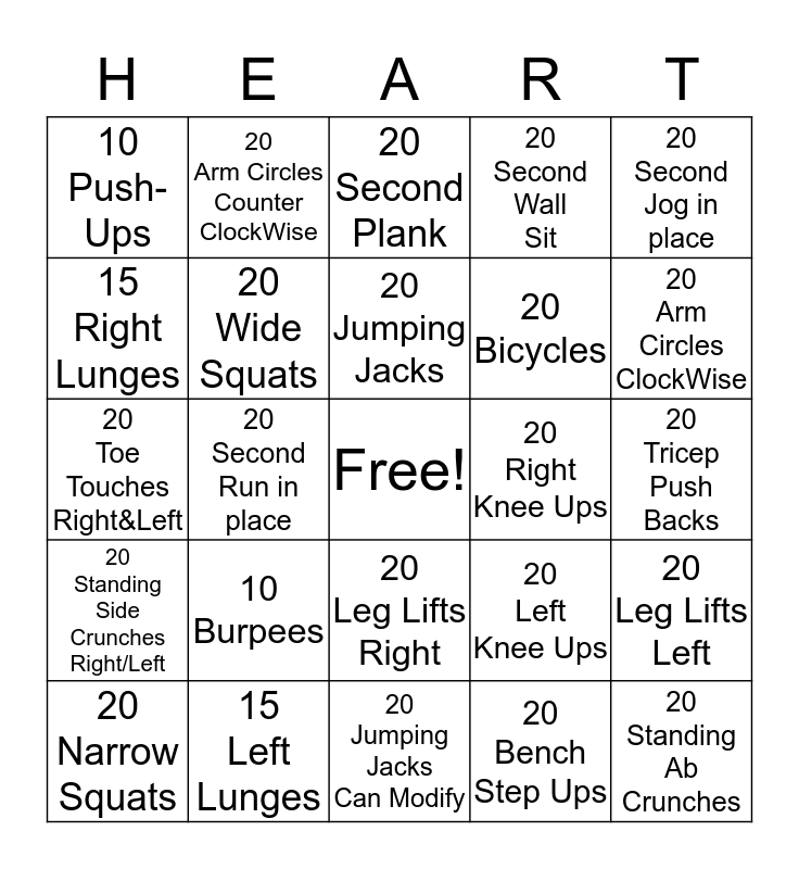 Thank You 8:30 Fitness Group - Happy V Day Bingo Card