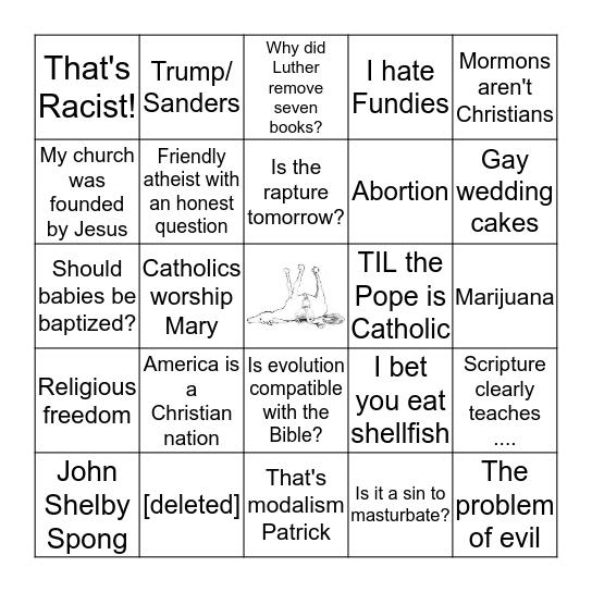 /r/Christianity Bingo Card