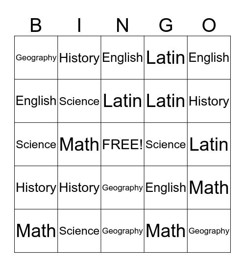 Classical Conversations Review Bingo Card