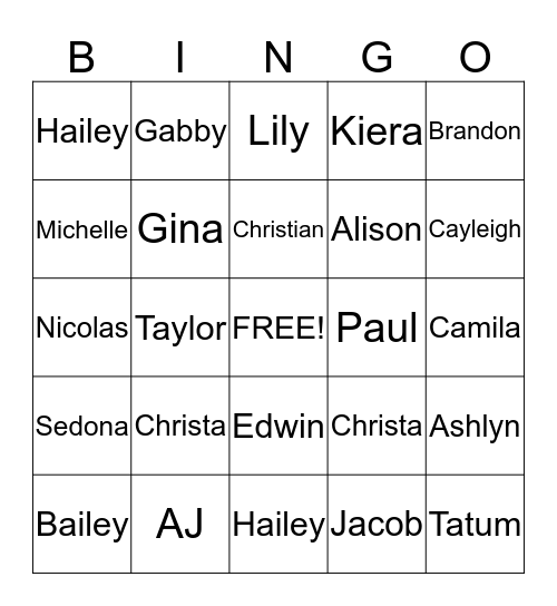 Mrs. Altini's Valentine Bingo Card