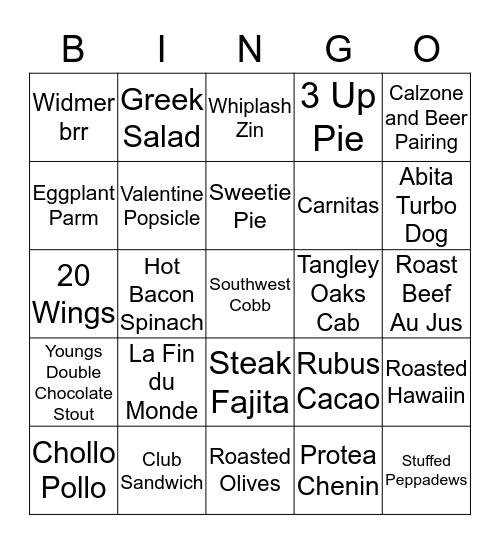 Delicio Bingo Card