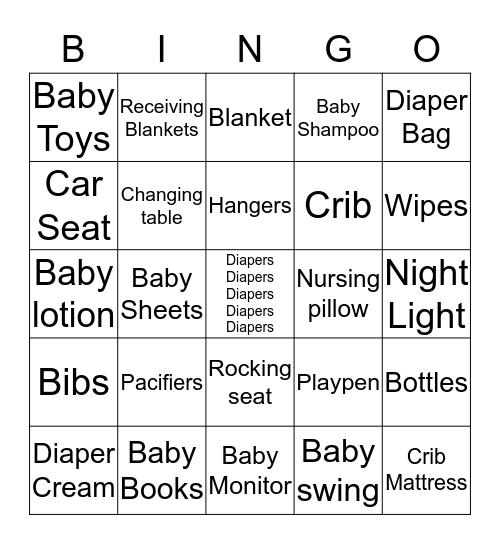 BABY MCLEAN BABY SHOWER Bingo Card