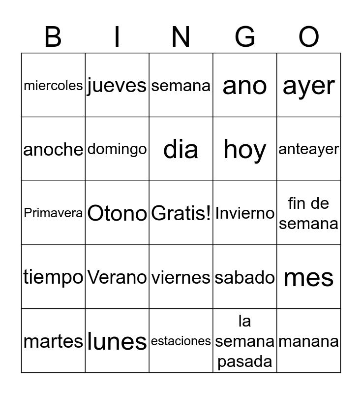 3 Bingo Card