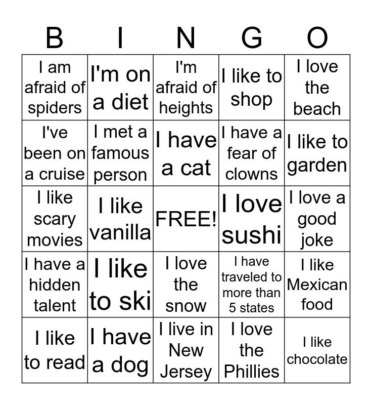 Breast Center Bingo Card