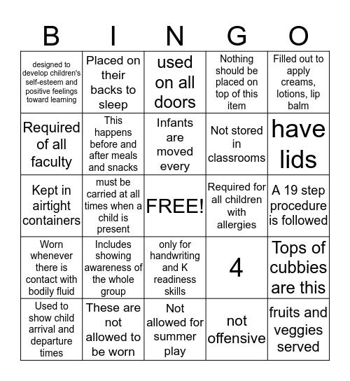 Goddard Quality Assurance Bingo Card