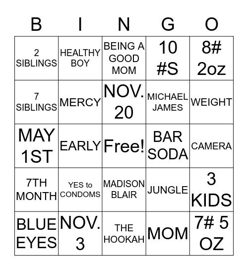 MOMMY  Bingo Card