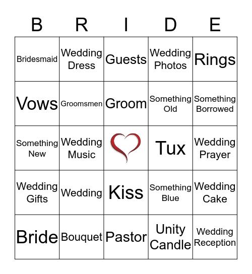Lindsay's Bridal Shower Bingo Card