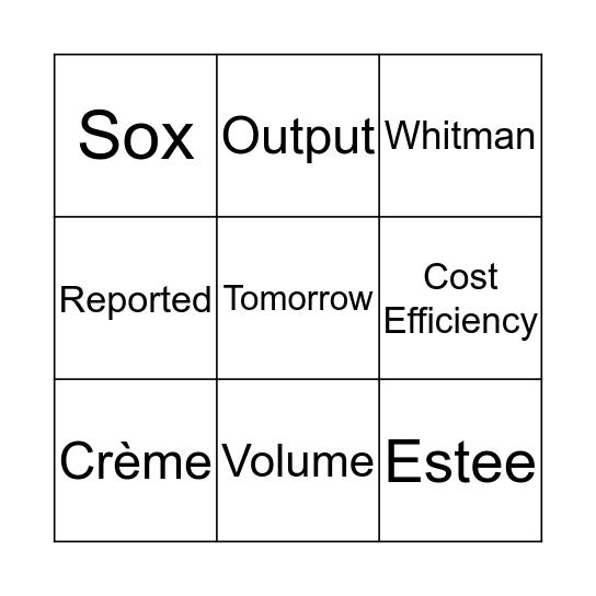 Weekly Brief Bingo  Bingo Card