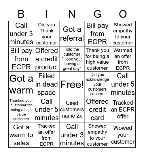 Sunday Bingo!!! Bingo Card