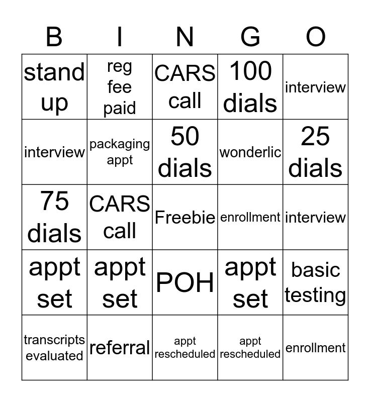 Bingo-ductivity Bingo Card