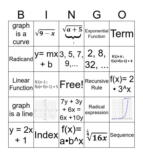 Unit 5 Vocabulary Bingo Card