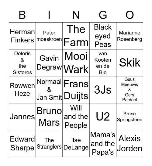 """Anja's Muziek Bingo"" Bingo Card"