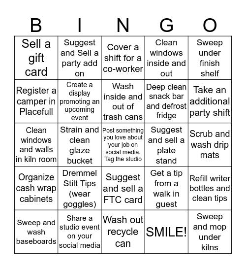 Pottery Chic Bingo Card