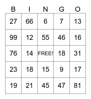 Spring,Spring,Spring Bingo Card