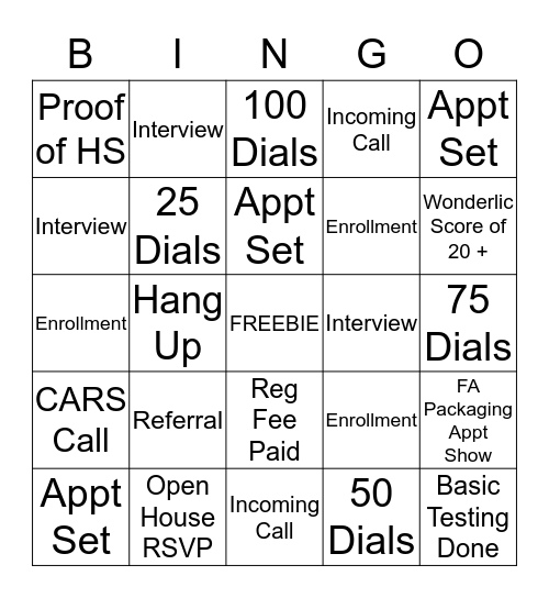 Productivity Bingo! Bingo Card
