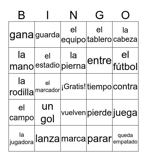 Deportes de equipo Bingo Card
