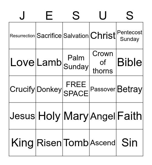 Resurrection Bingo Card