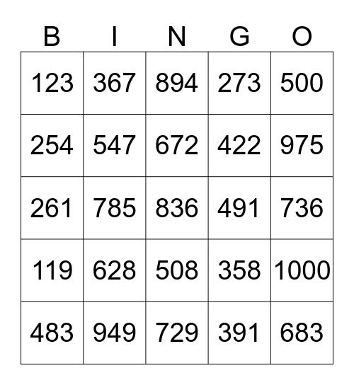 Getallen / Nombres Bingo Card