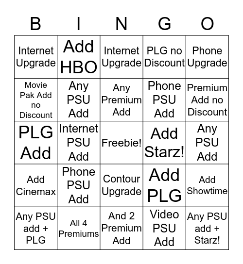 Team McCloskey Bingo 3/21/16 Bingo Card