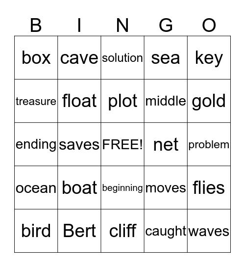 Bert's Boat Bingo Card