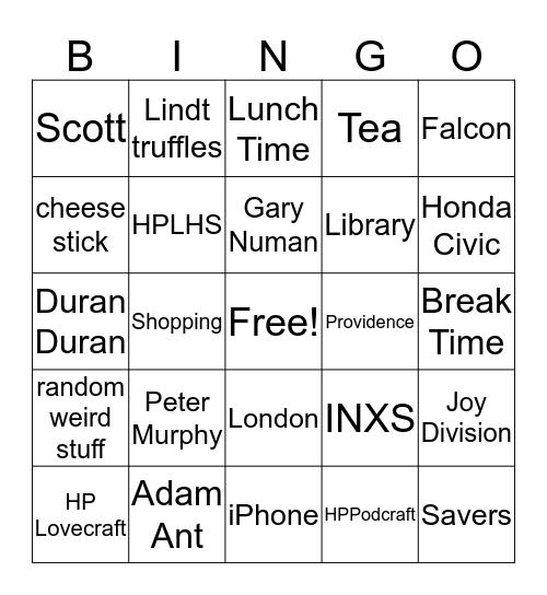 Gwen Bingo Time Bingo Card