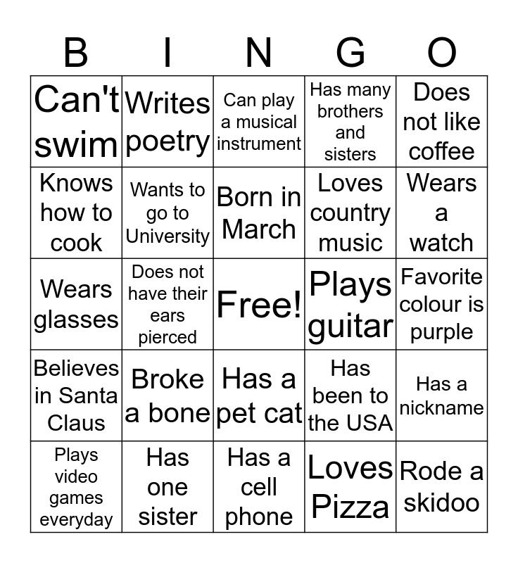 Awasis Youth Conference Bingo 2016 Bingo Card