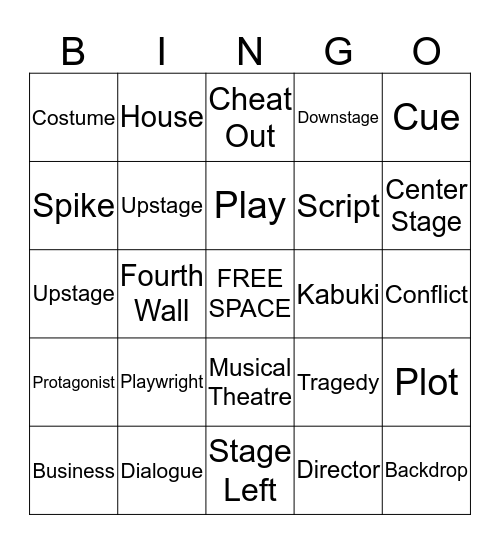 THEATER BINGO Card