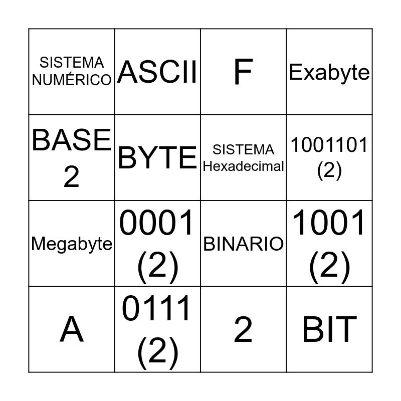 Bingo Informático Bingo Card