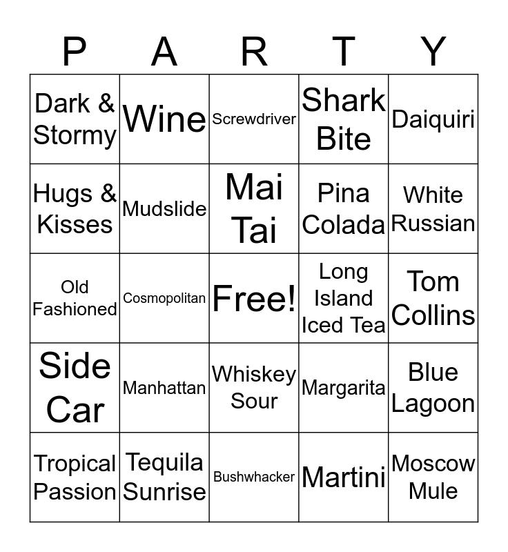 Booze Bingo Card