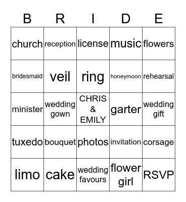 Lets Play Bingo Card