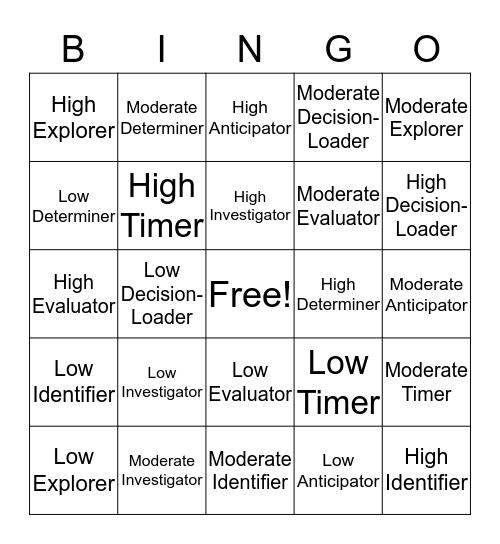 MPA Bingo Card