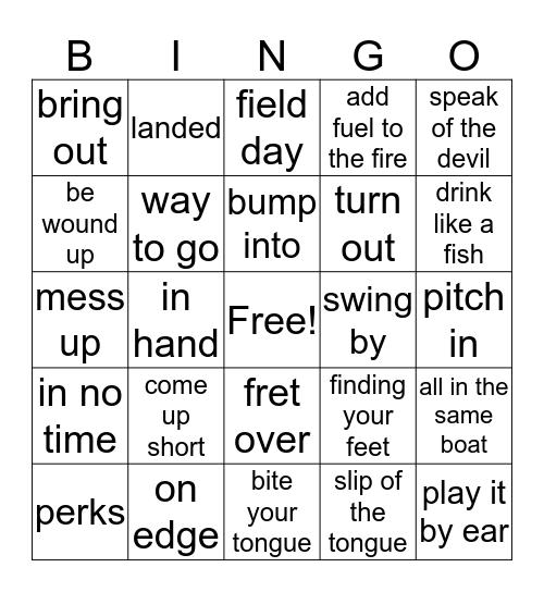 smart chunk bingo Card